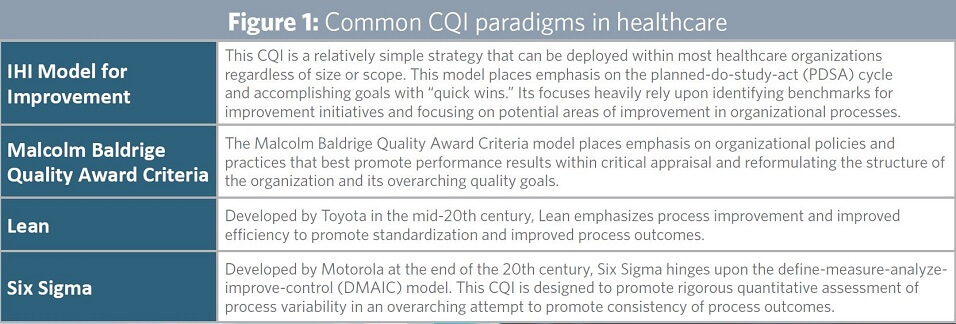 Choosing A Continuous Quality Improvement Model